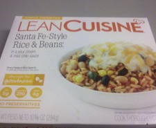 Day 4 of the Yahoo! Challenge is here, and it's a meal I've had quite a bit myself.  Because I love beans, and I love rice!  So naturally, I love beans and rice! Yahoo! says: Lean Cuisine Santa Fe-Style Rice...