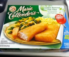 Where I come from Marie Callendar's makes awesome potato soup.  They also make frozen meals these days, and this battered fish fillet is a nice fish fry alternative.  Or IS it?