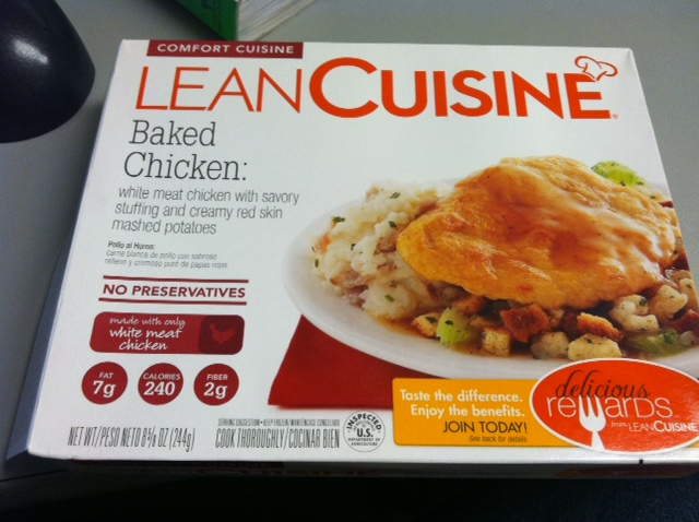 Lean cuisine baked chicken new recipe tasty lies for Are lean cuisine meals healthy