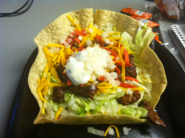 Taco Bell: Steak Taco Salad - Tasty Lies Frozen Meal Reviews