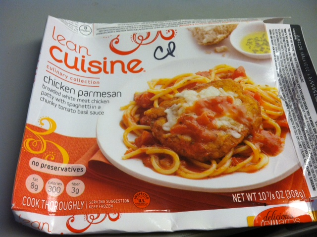lean cuisine chicken parmesan tasty lies frozen meal