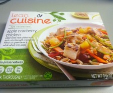 Carol chimes in with a review of a tasty looking Lean Cuisine meal.  It's like Thanksgiving, but not!  It's Apple Cranberry Chicken!  Check it out!