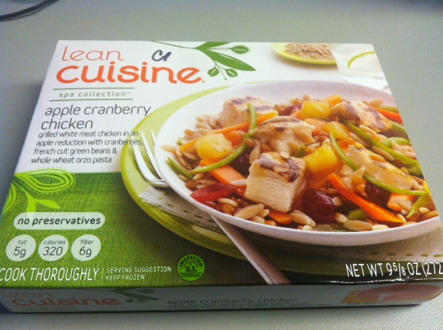 lean cuisine apple cranberry chicken tasty lies frozen