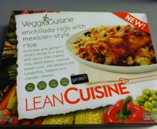 Lean Cuisine delves into the Vegan market with their new VEGGIE CUISINE line.  Today it's Enchilada Rojo with Mexican-Style Rice!  Heidi tackles the enchilada with Vegan Chicken!