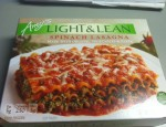 Today's Tasty Lie is Amy's Light & Lean Spinach Lasagna, all organic goodness!  Was it any good at all?  We'll have to ask Christen.