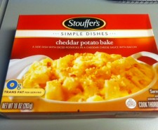Today we review the Cheddar Potato Bake from Stouffer&#039;s.  How can you go wrong with potatoes, cheese and bacon?  You probably can&#039;t.